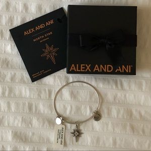 Alex and Ani Silver North Star Bracelet